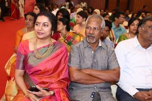 Actress Suhasini & Maniratnam at Actress Raadhika Sarathkumar's daughter Rayane Wedding