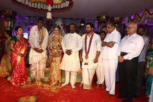 Vairamuthu & AVM Saravanan at actress Raadhika Sarathkumar's daughter Rayane Wedding