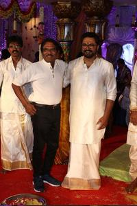 Director Bharathi Raja at actress Raadhika Sarathkumar's daughter Rayane Wedding