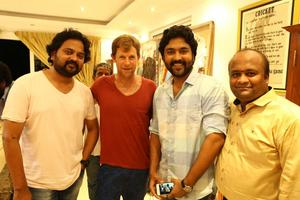 Kayal Chandran with South African Cricketer Jonty Rhodes Stills