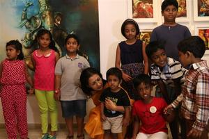 The participants of Ganesh 365 art exhibition were honoured by Gautami