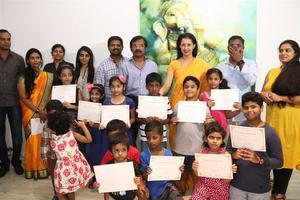 Stills: The participants of Ganesh 365 art exhibition were honoured by Gautami