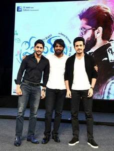 Nagarjuna, Akhil and Naga Chaitanya at Premam Audio Launch