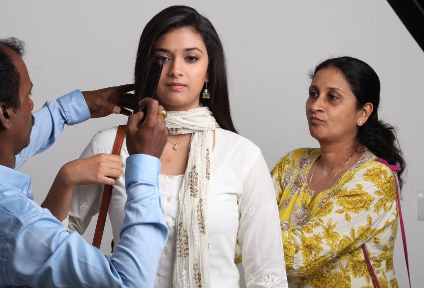 Costume Designer Anu Parthasarathy with Keerthy Suresh - Remo working stills