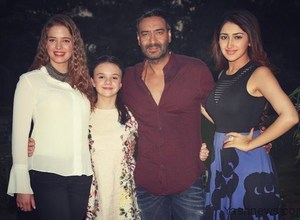 """Shivaay Team during a press conference to promote their upcoming film """"Shivaay"""" in New Delhi"""