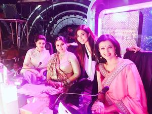 Parvathy Nair, Sneha, Gautami and Sudha Chandran On the sets of Dance Jodi Dance