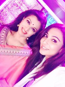 Parvathy Nair, Gautami On the sets of Dance Jodi Dance