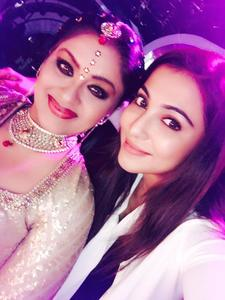 Parvathy Nair, Sudha Chandran On the sets of Dance Jodi Dance