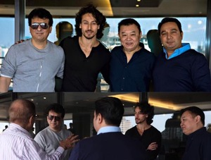 Baaghi 2 Team - Tiger Shroff, Director Ahmed Khan and producer Sajid Nadiadwala met Tony Ching