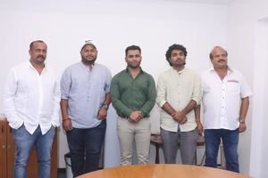 Yaar Ivan Movie Press Meet Stills | Sachiin J. Joshi, Director T. Satya, Music Director Thaman