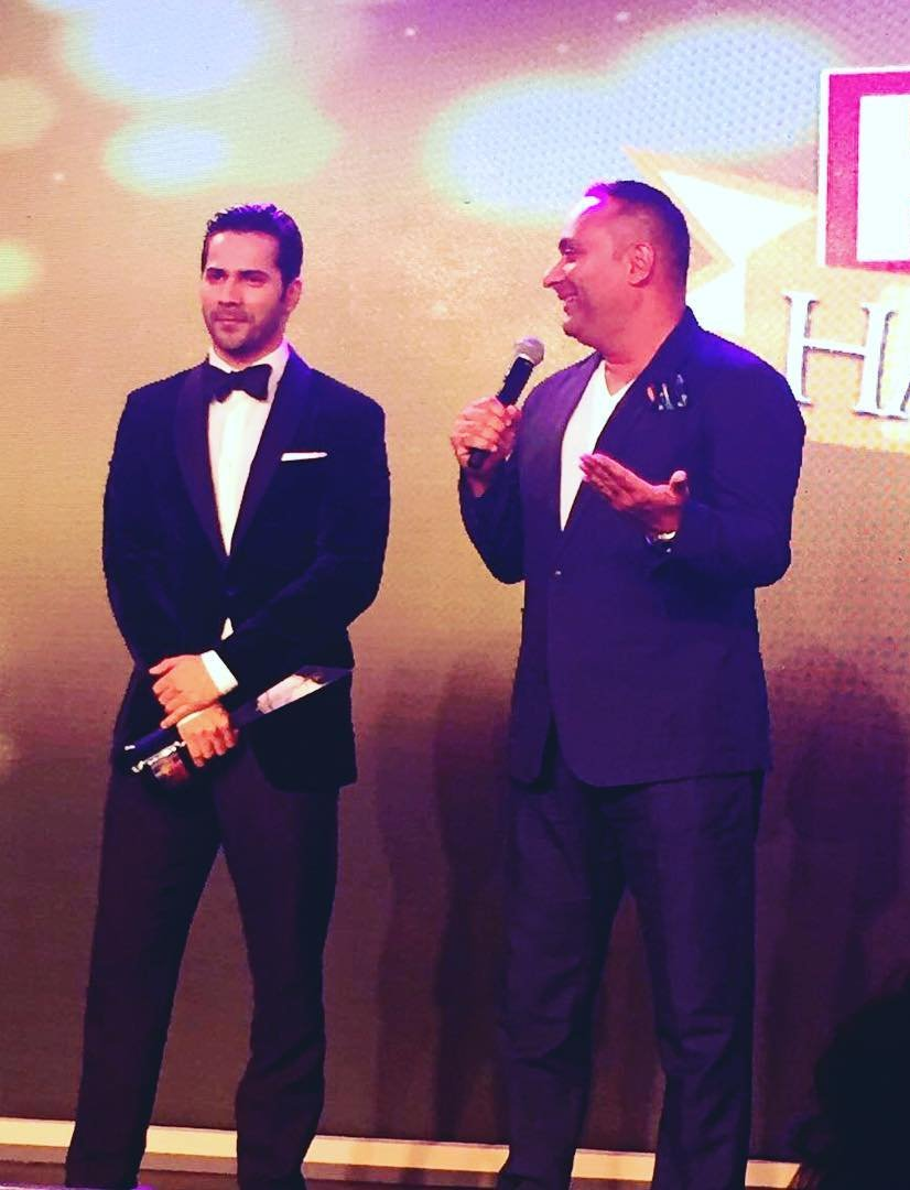 Varun Dhawan at the HELLO Hall Of Fame Awards 2017
