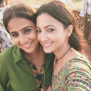 Vidya Balan and Gauhar Khan On The Sets Of Begum Jaan
