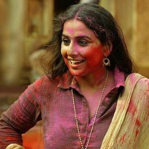 Vidya Balan Still from the sets of Begum Jaan