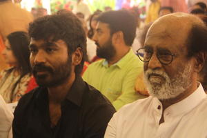 Superstar Rajinikanth, Dhanush At Neruppuda Movie Audio Launch