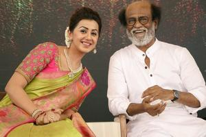 Superstar Rajinikanth, Nikki Galrani At Neruppuda Movie Audio Launch