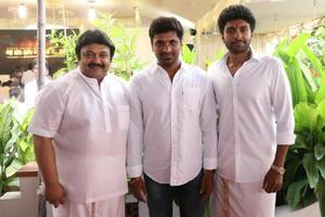 Prabhu, Vikram Prabhu, Director Ashok Kumar At Neruppuda Movie Audio Launch