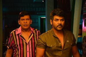 Raghava Lawrence, Vadivelu Stills From Sivalinga
