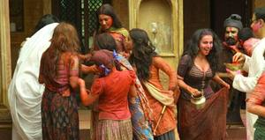 Flora Saini, Pallavi Sharda, Gauahar Khan and Priyanka Setia working stills from Begum Jaan