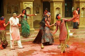 Flora Saini, Pallavi Sharda, Gauahar Khan, Priyanka Setia working stills from Begum Jaan