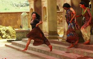 Flora Saini, Pallavi Sharda, Priyanka Setia working stills from Begum Jaan