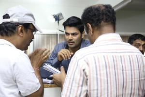 Shankar-Suresh, Ganesh Venkatraman stills from the sets of Inayathalam