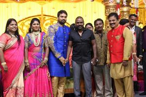 Raghava Lawrence at FEFSI Vijayan Master Son's Wedding Reception