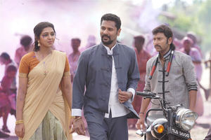 New stills of Prabhu Deva, Lakshmi Menon and RJ Balaji from Yung Mung Sung movie