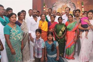 Raghava Lawrence Open Temple for His Living Mother Stills