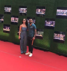 The dashing Virat Kohli and gorgeous Anushka Sharma at Sachin Premiere