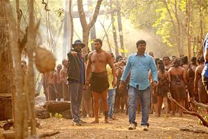 Checkout the working stills from Tamil movie Vanamagan. This film features Jayam Ravi and  Sayesha Saigal in the lead roles. Directed by A.L Vijay.