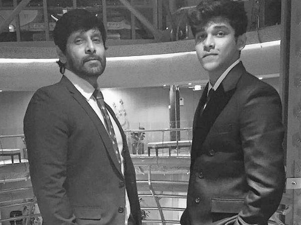 Vikram shows interest in making his son a hero