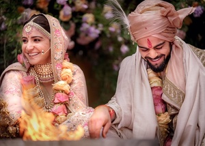 Virat Kohli and Anushka Sharma celebratory return