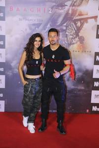 Baaghi 2 Trailer Launch Stills.