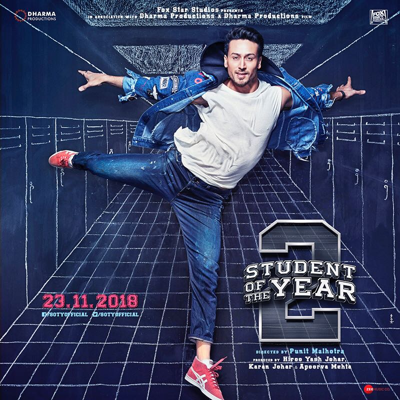 Student Of The Year 2 movie posters.