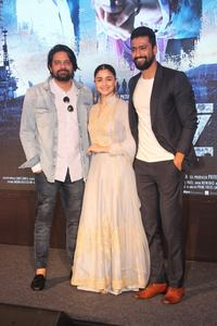 Alia Bhatt, Vicky Kaushal and Meghna Gulzar at Song Launch Stills.