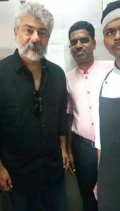 Thala with Fans Pictures.