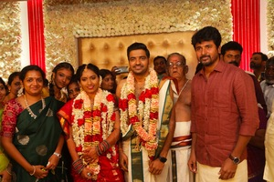 Actor Sathish Marriage Images.